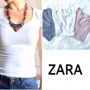 ⚡️Closet Clear Out⚡️3 ZARA Tee bundle XS